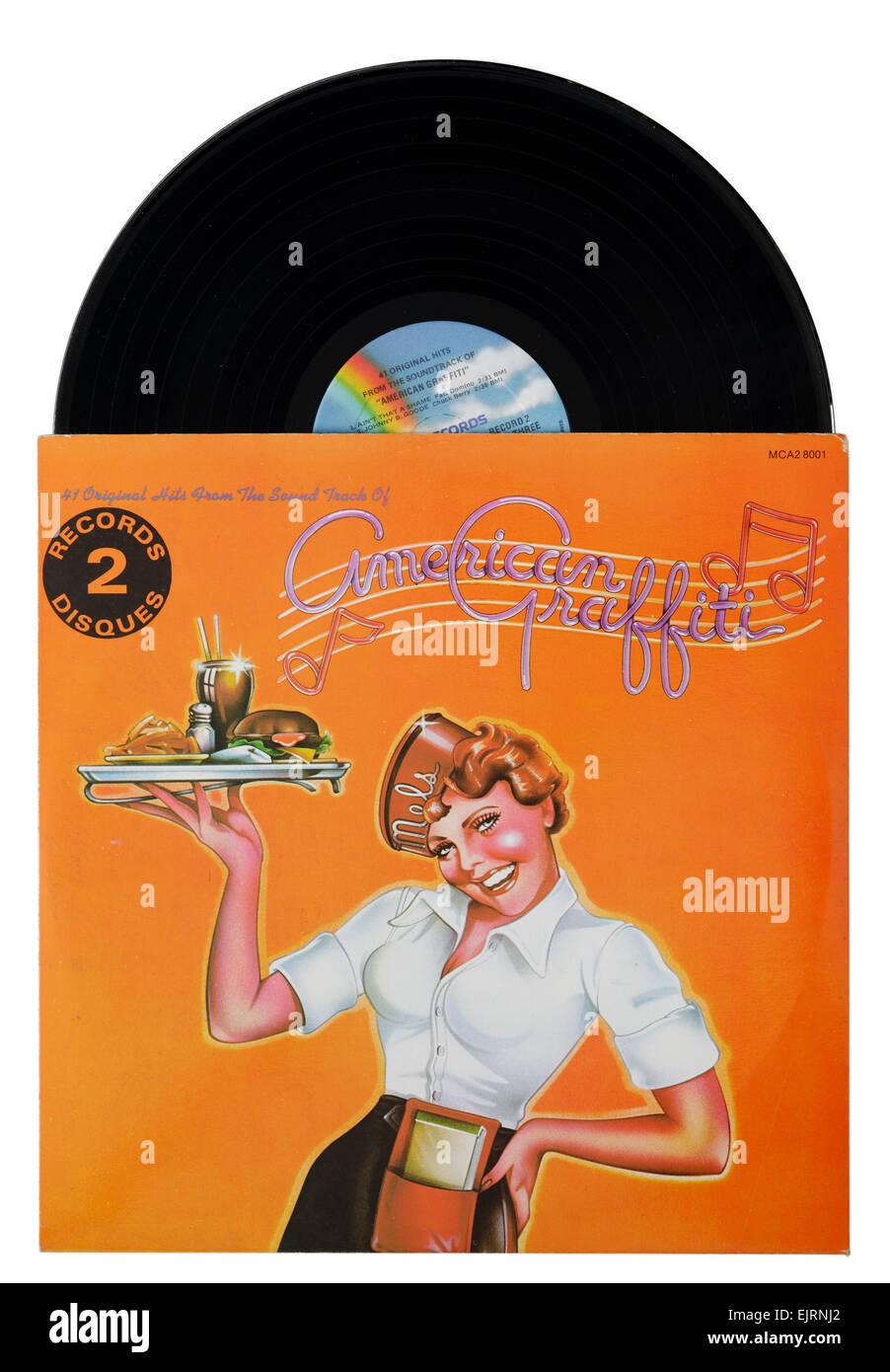 American Graffiti Film Soundtrack Album Stock Image