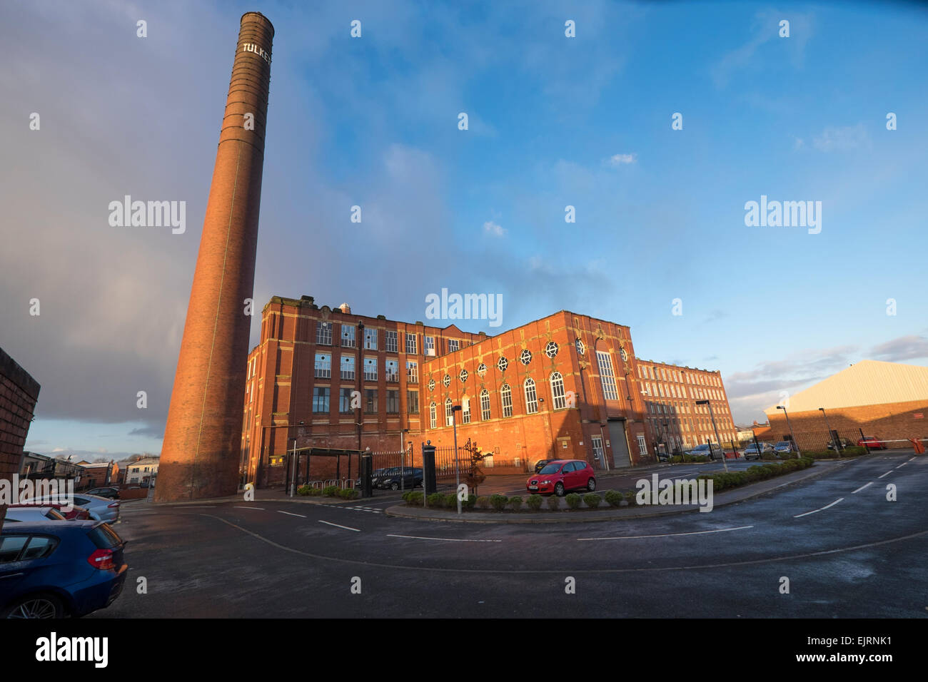 Preston, Lancashire: Tulketh Cotton Mill is now used as offices and a call centre. - Stock Image