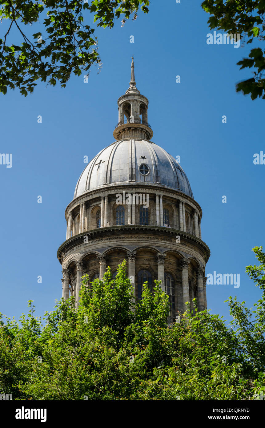 The dome of the Basilica of Notre Dame in Boulogne Northern France - Stock Image