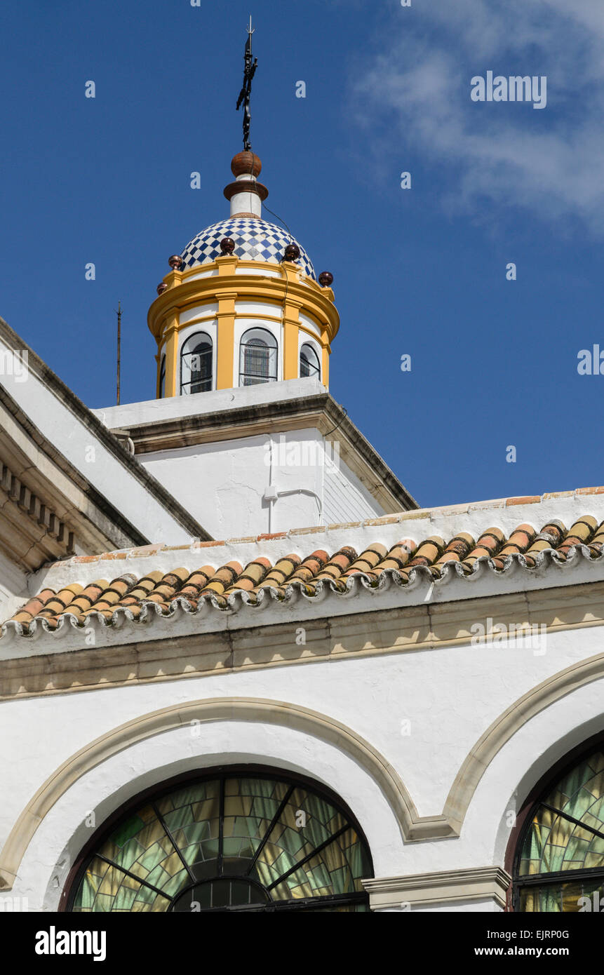 Roof detail of the Bullring in Seville. - Stock Image