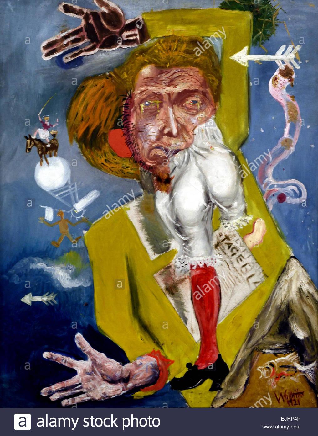 Self portrait ( The Golem ) Gert Heinrich Wollheim1894 – 1974 German Germany  ( In Jewish folklore, a golem is an - Stock Image