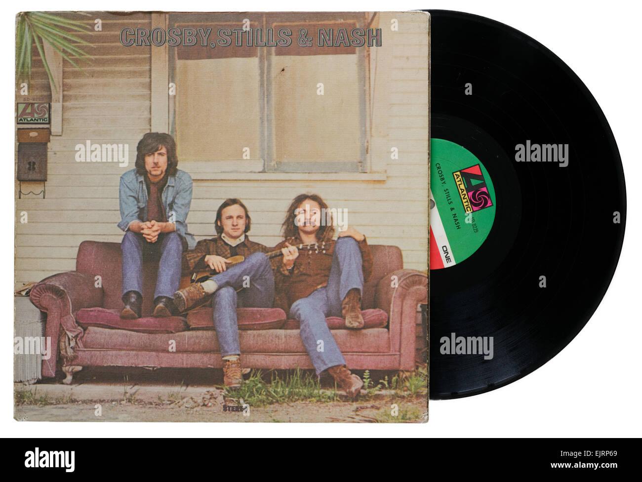 Crosby Stills and Nash debut album - Stock Image