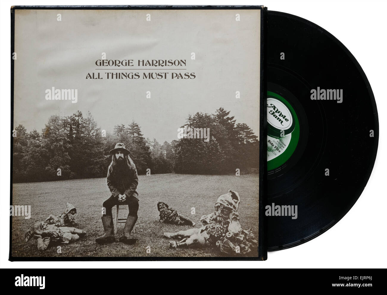 George Harrison album All Things Must Pass - Stock Image