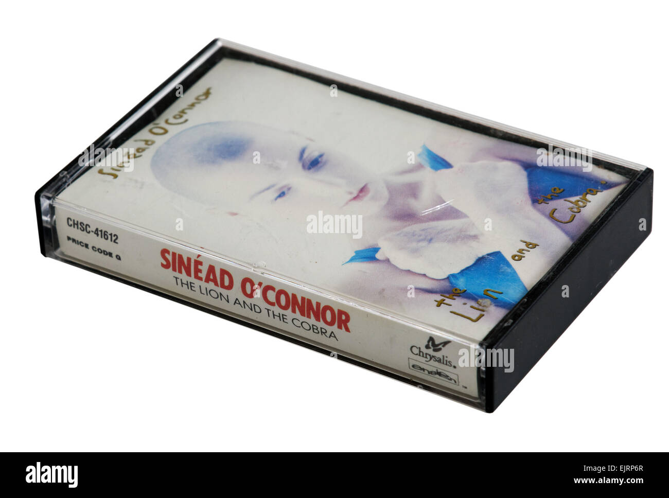 Sinead O'Connor album The Lion and the Cobra on cassette tape - Stock Image