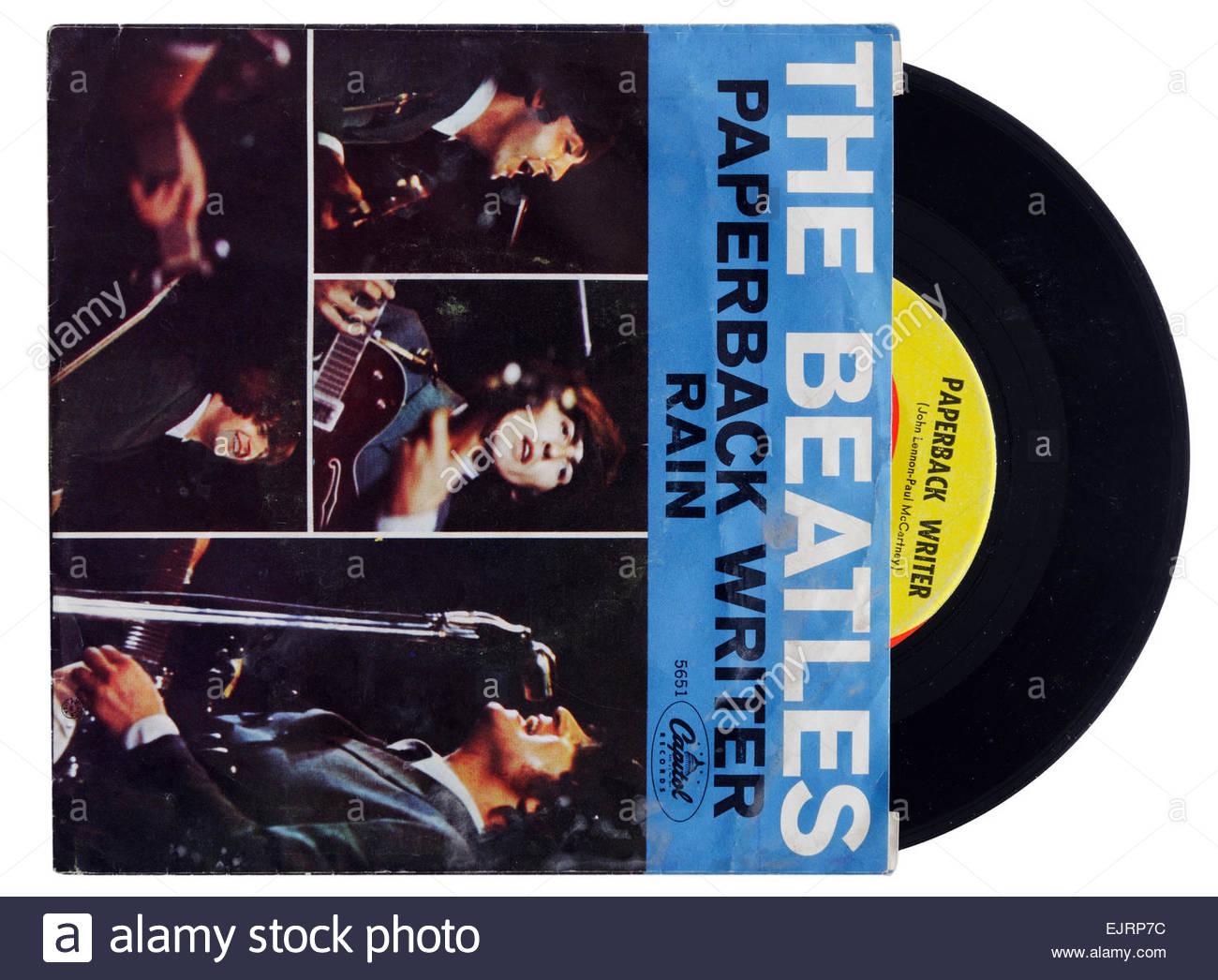 Beatles Paperback Writer single - Stock Image