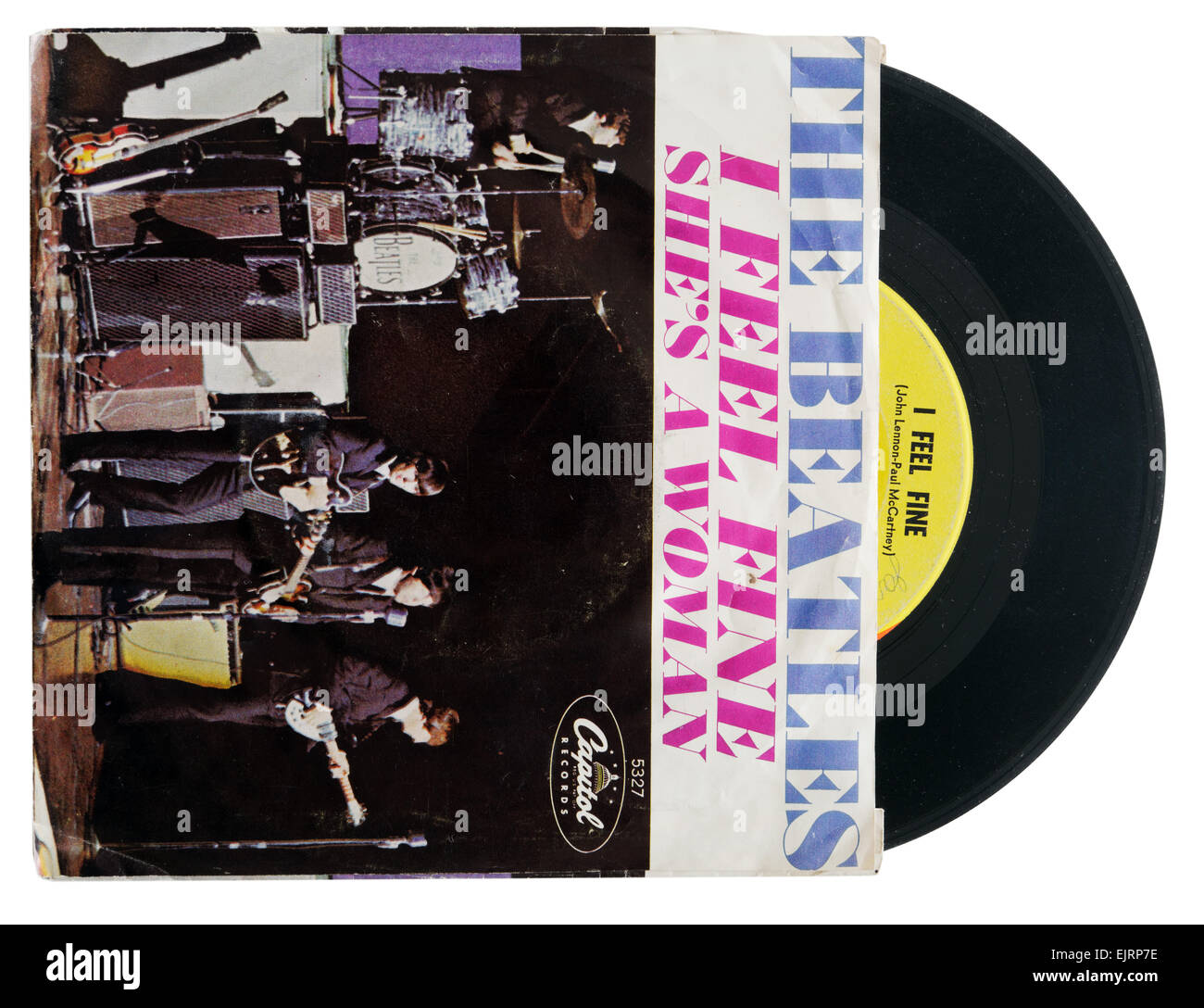 Beatles I Feel Fine single - Stock Image