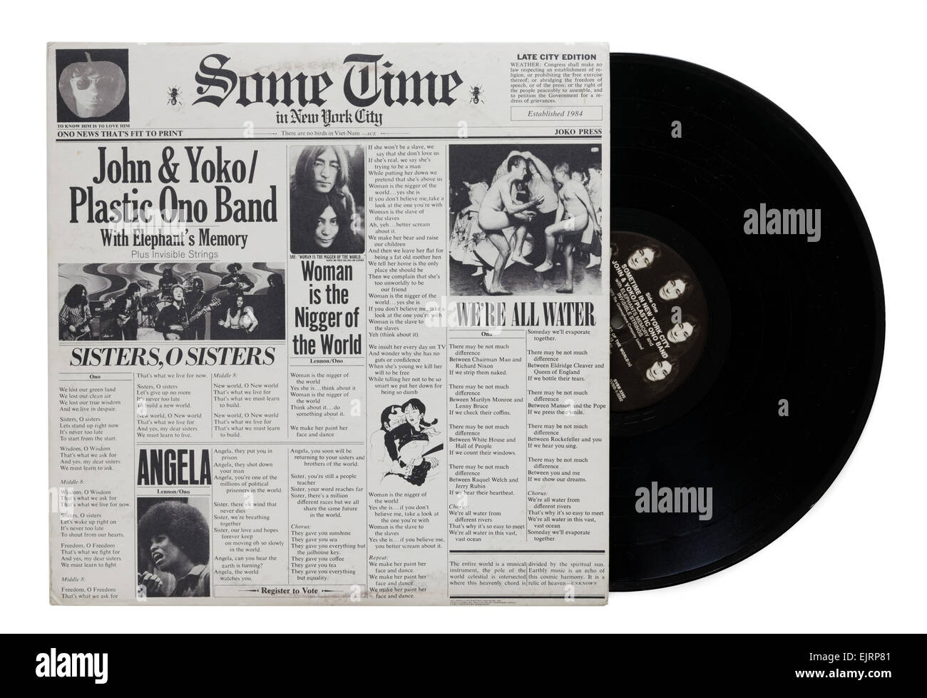 Some Time In New York City Album By John Lennon And Yoko Ono Plastic Stock Photo Alamy
