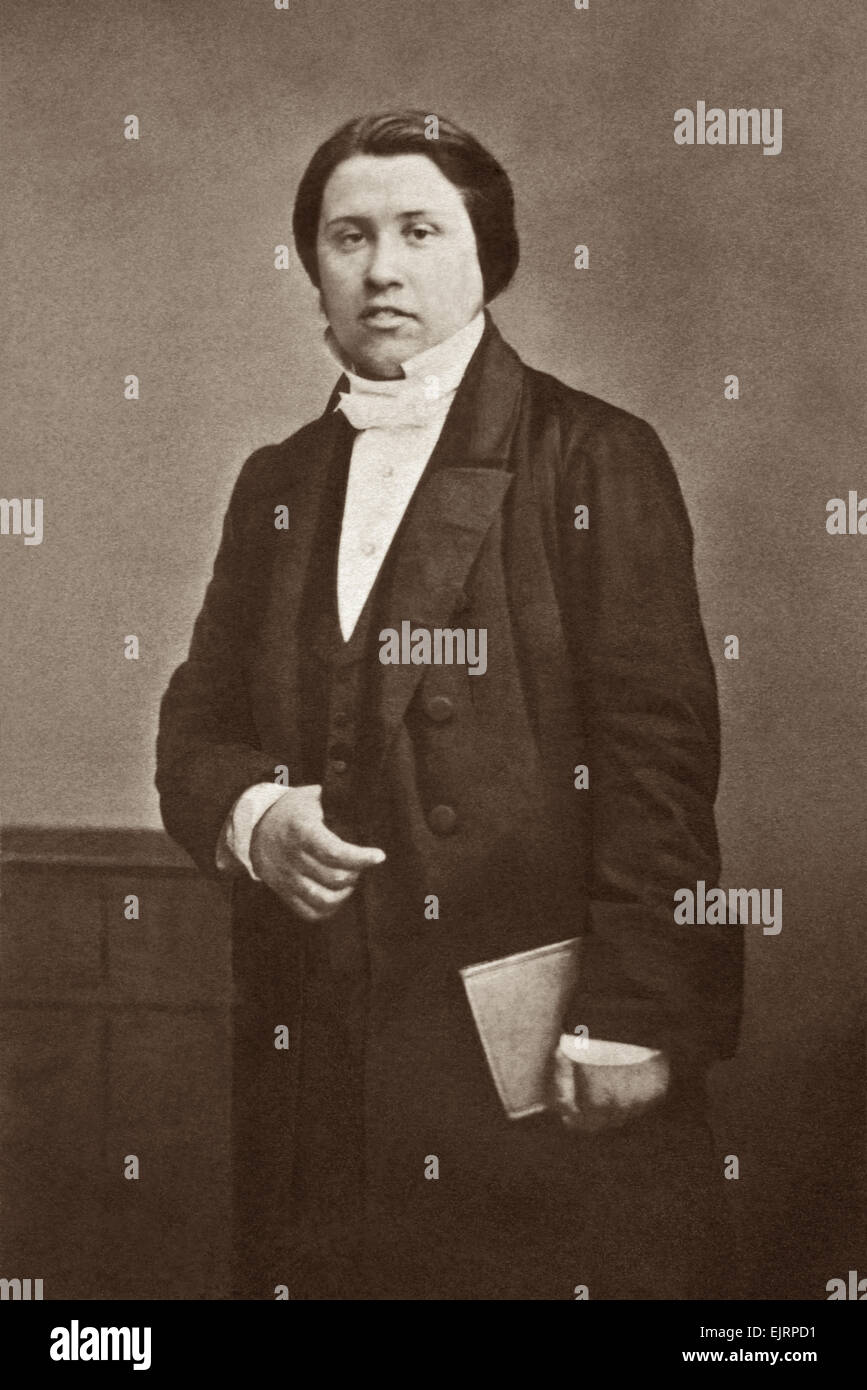 Charles Haddon (C.H.) Spurgeon as a young man in the early 1860s. - Stock Image