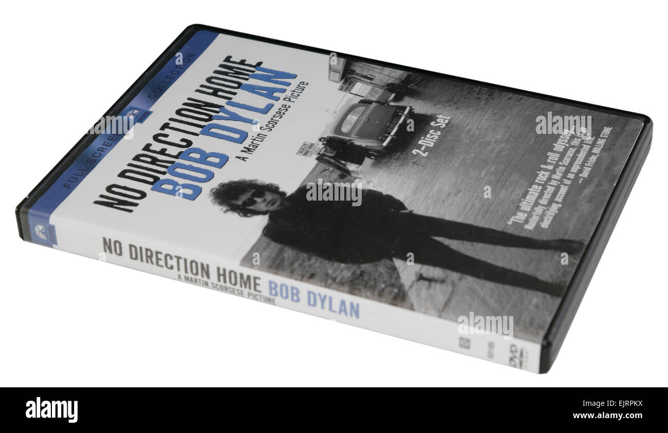 No Direction Home, the biopic of Bob Dylan on DVD - Stock Image