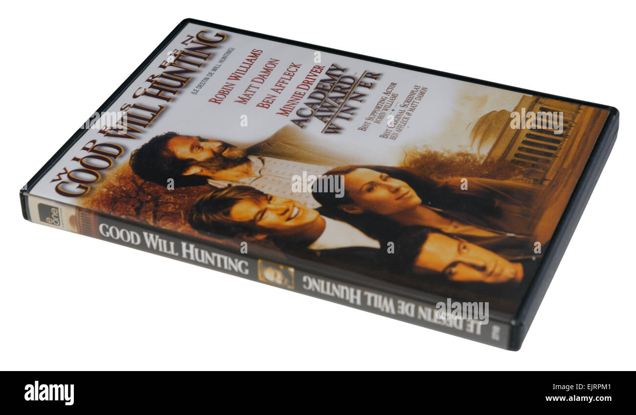 Good Will Hunting film on DVD - Stock Image