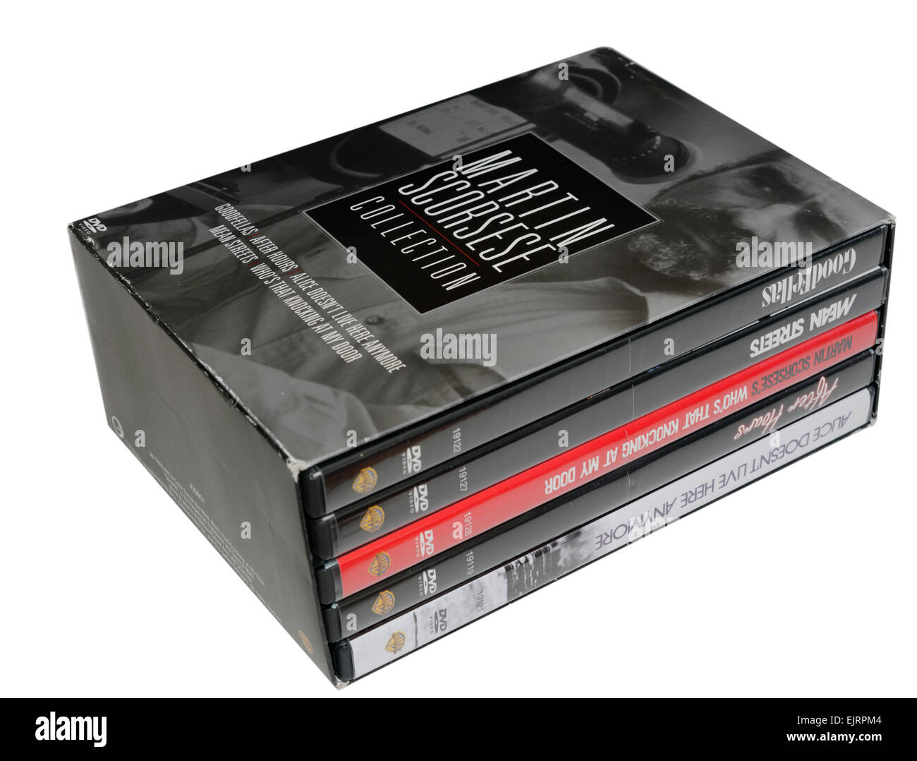 A DVD box set of Martin Scorcese films, including Goodfellas - Stock Image