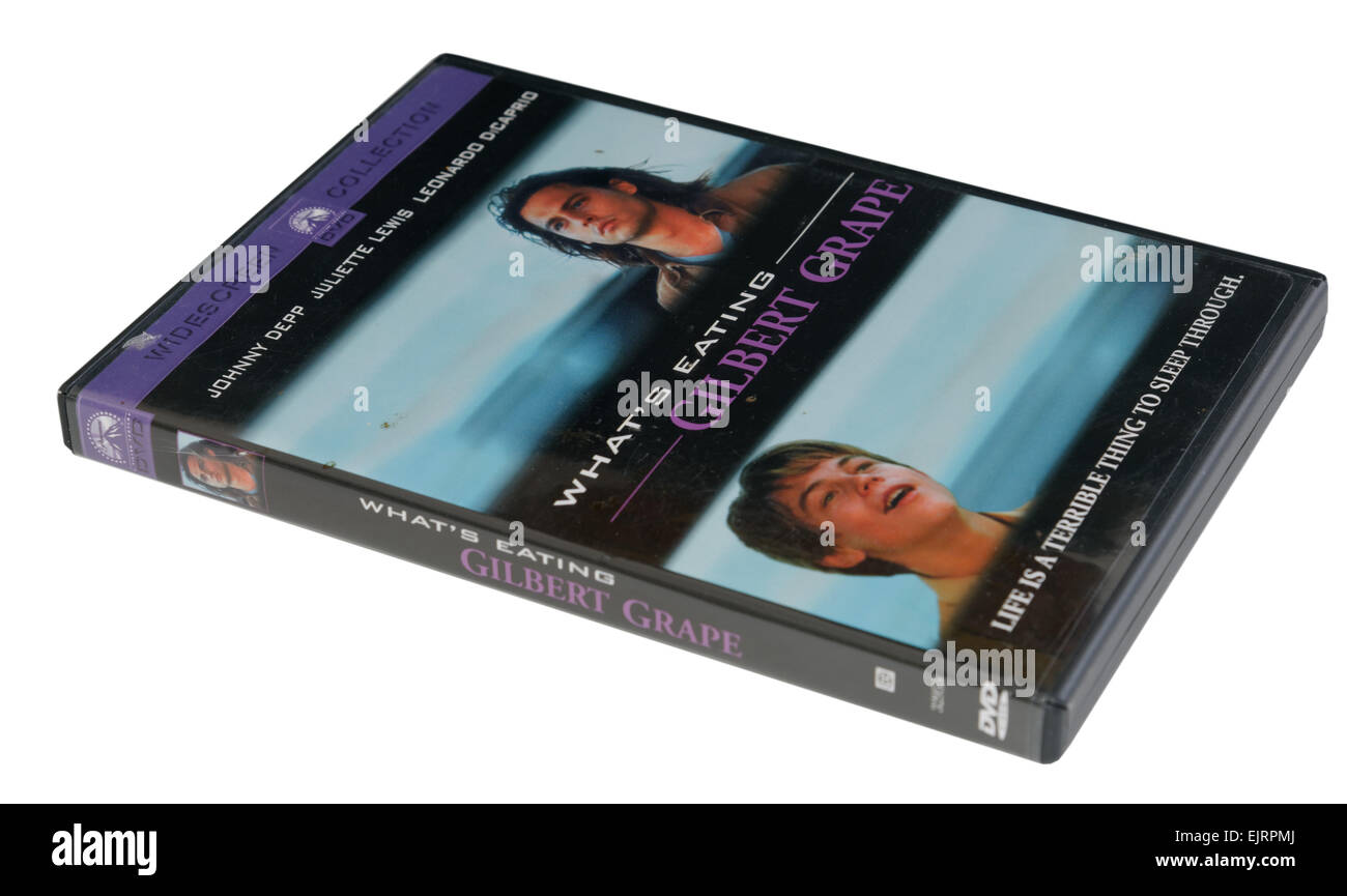 What's Eating Gilbert Grape film on DVD - Stock Image