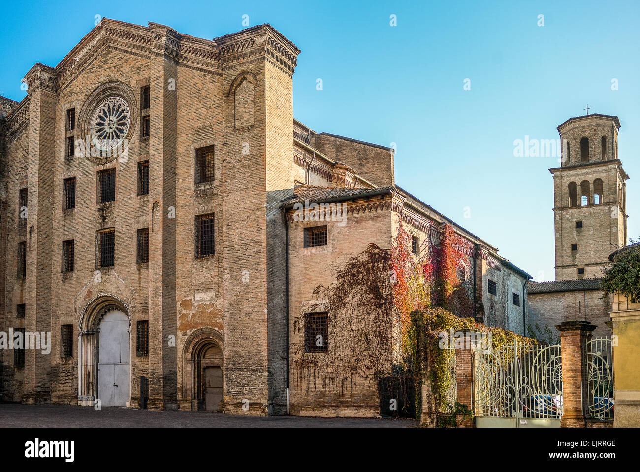 Parma,the desecrated church of St. Francis converted into a prison - Stock Image