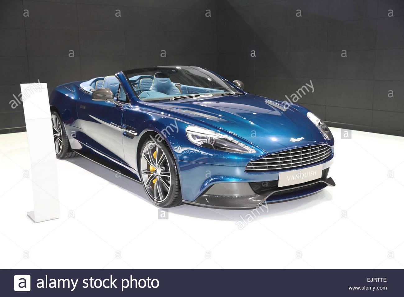 BANGKOK   MARCH 24: Aston Martin Vanquish Car On Display At The 36 Th  Bangkok