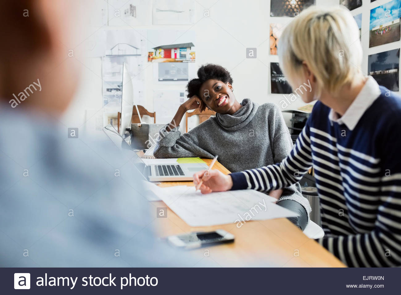 Architects meeting in office - Stock Image