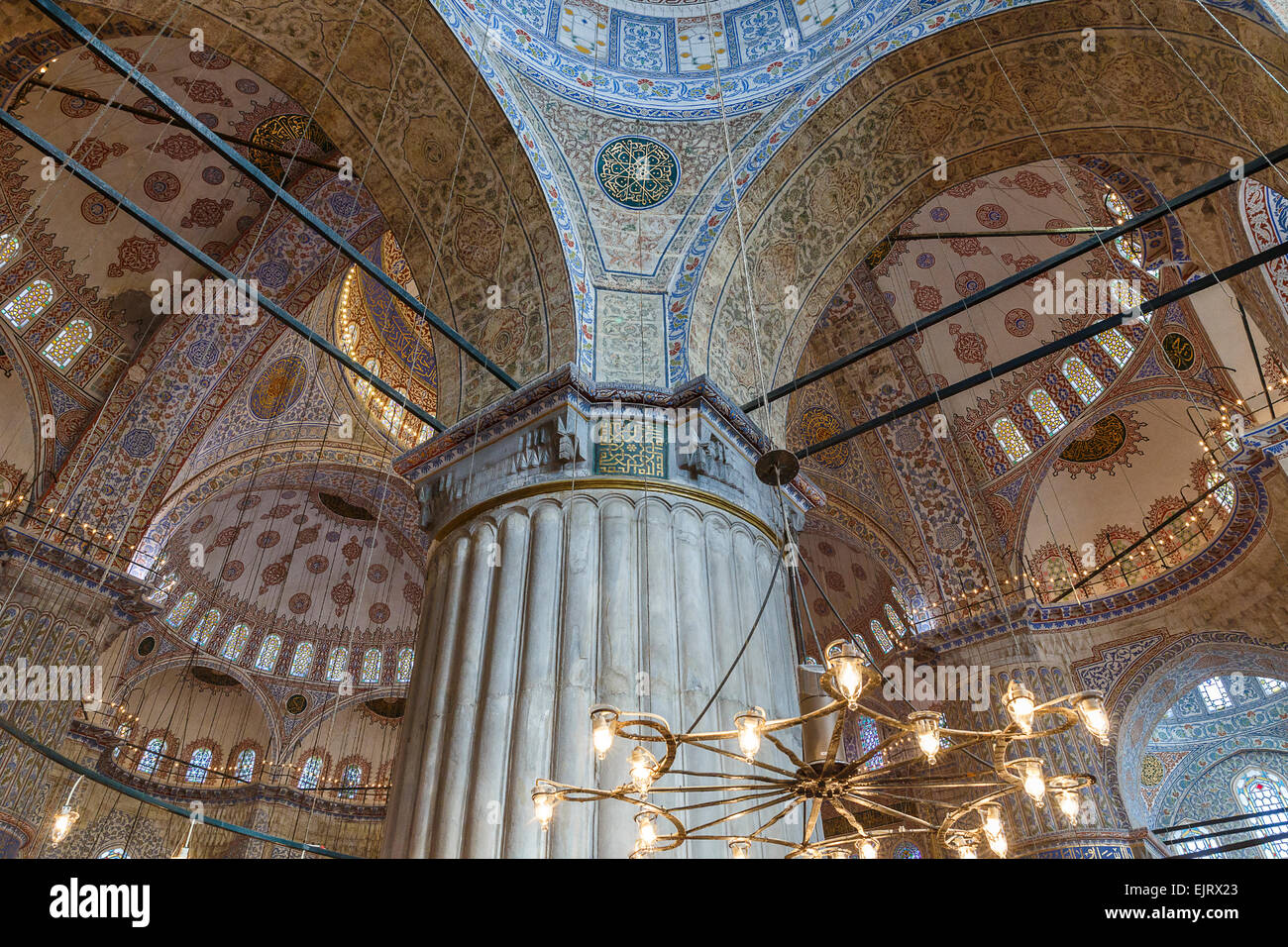 Dome of the mosque of Sultan Ahmed in Istanbul - Stock Image