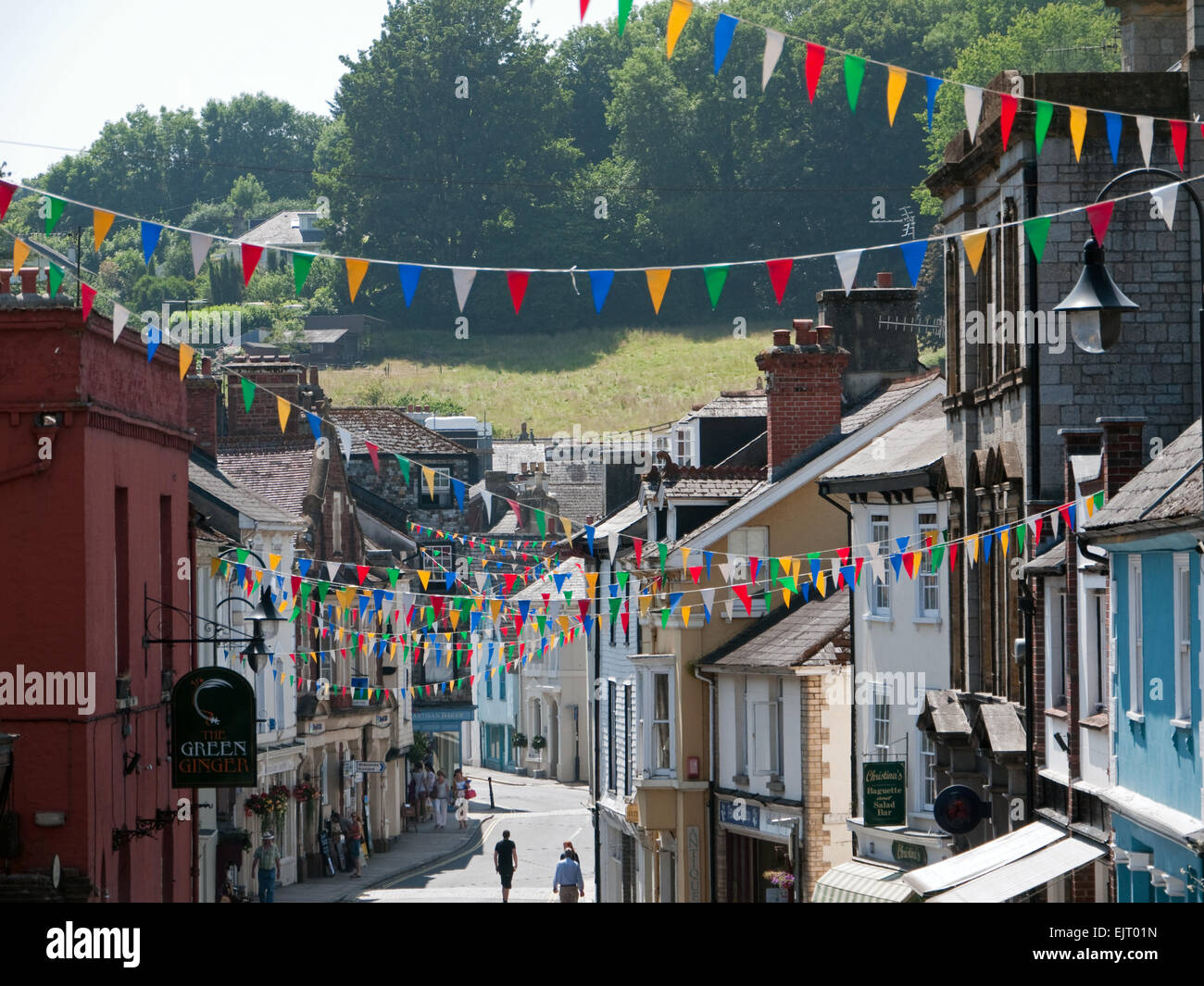 View of The Ancient Stannary Town of Ashburton in Dartmoor, Devon, England - Stock Image