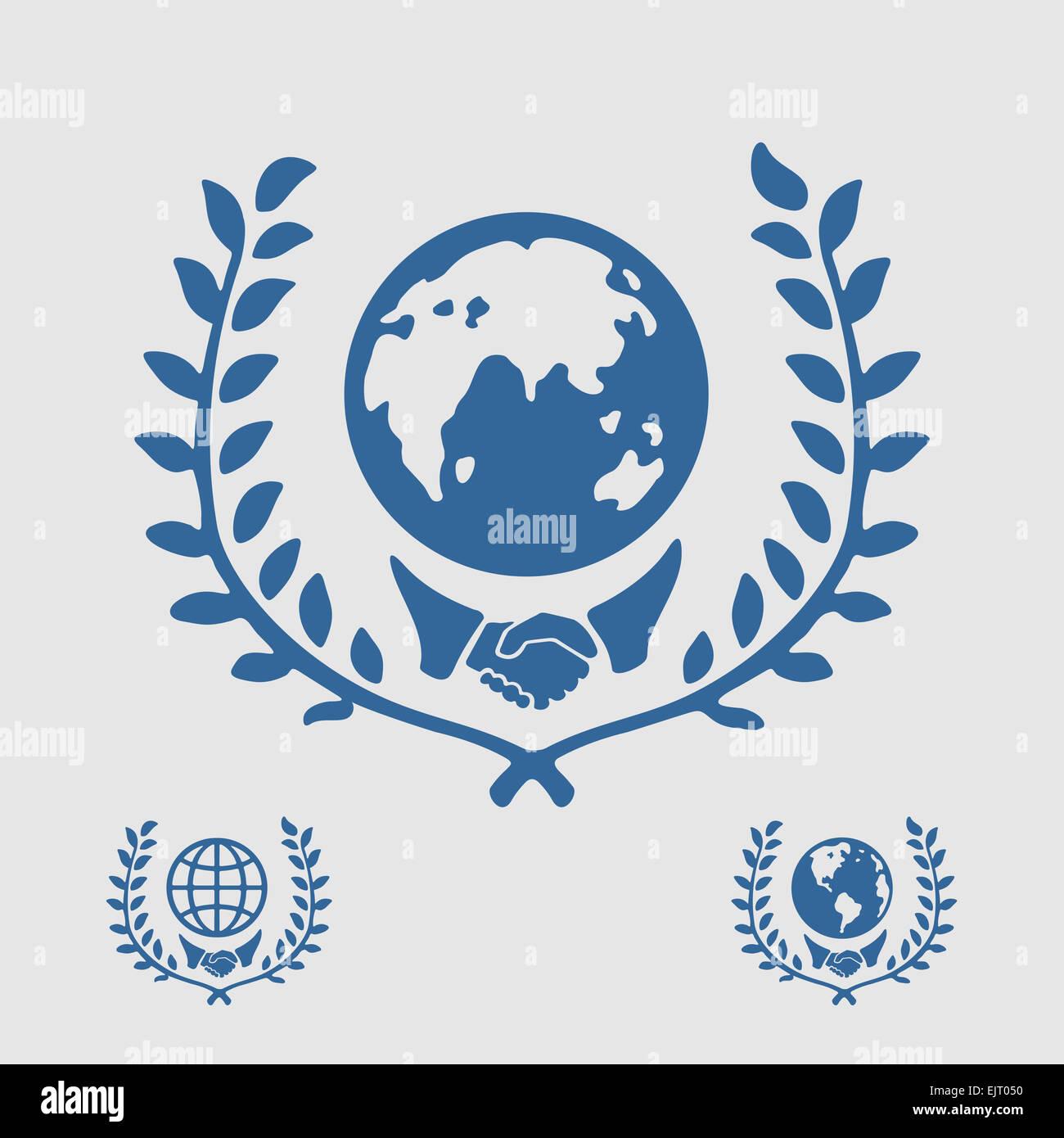 International Symbol Handshake - Stock Image