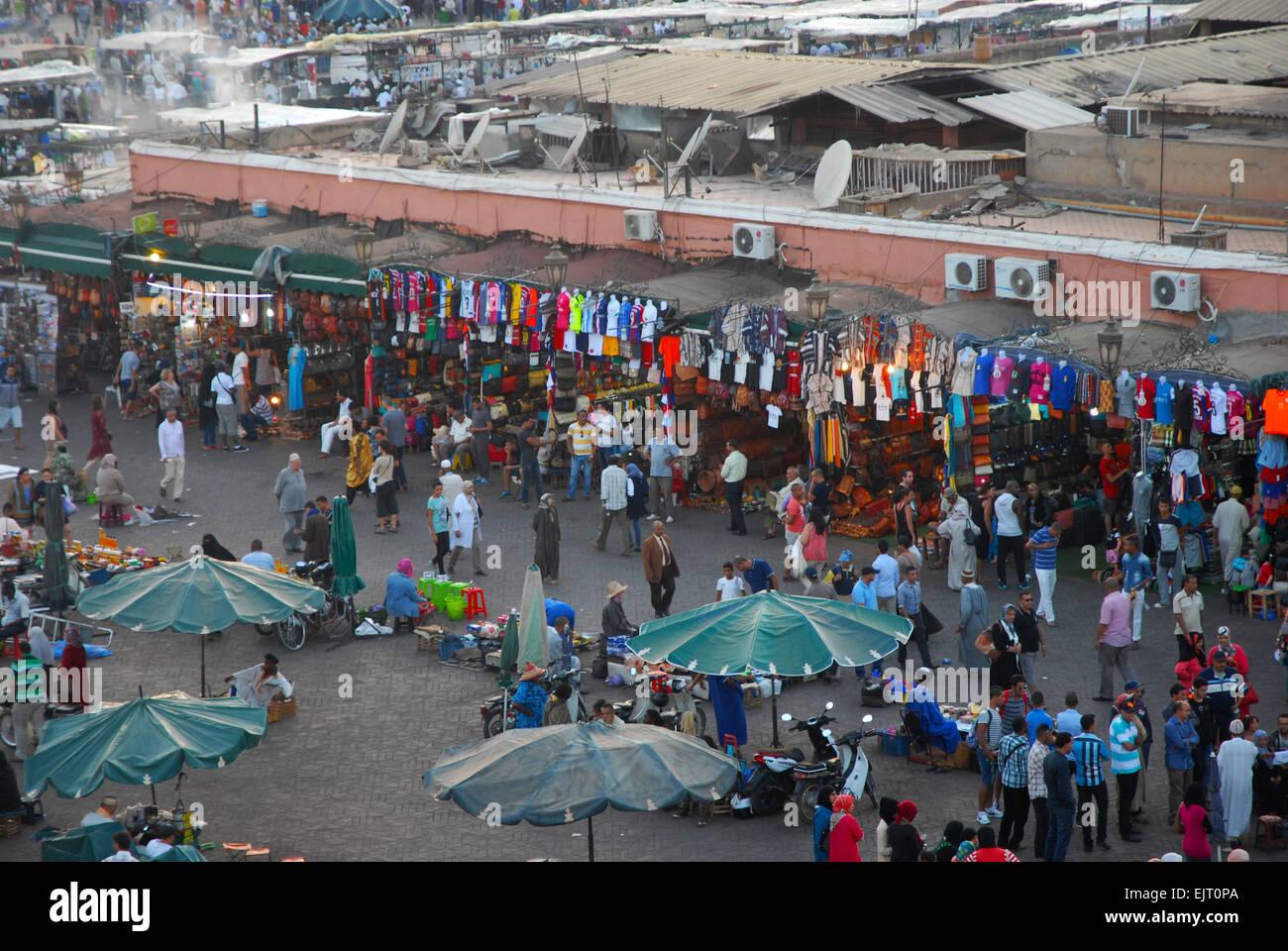 djemaa el-fna marrakesh Stock Photo