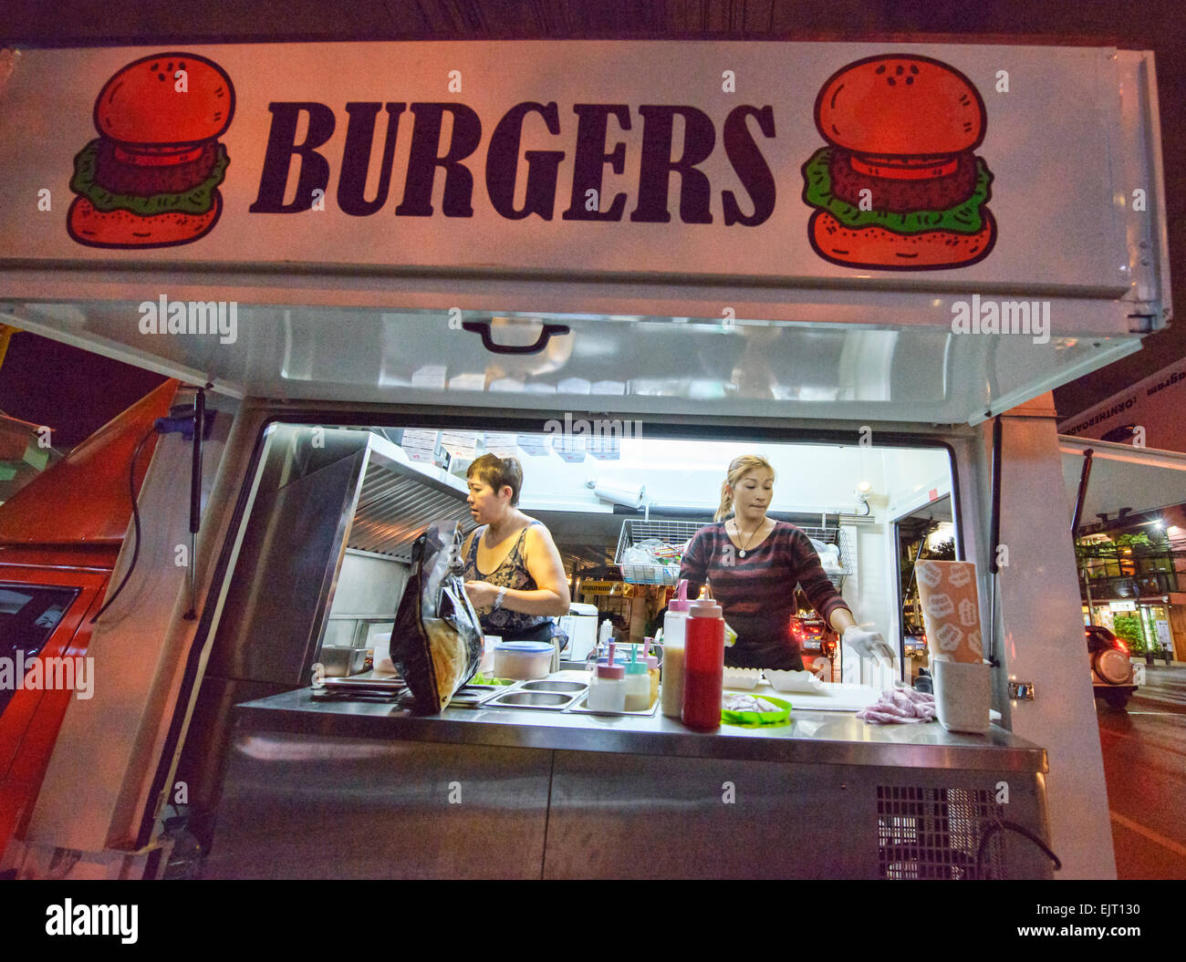 hamburger stall stock photos hamburger stall stock images alamy. Black Bedroom Furniture Sets. Home Design Ideas