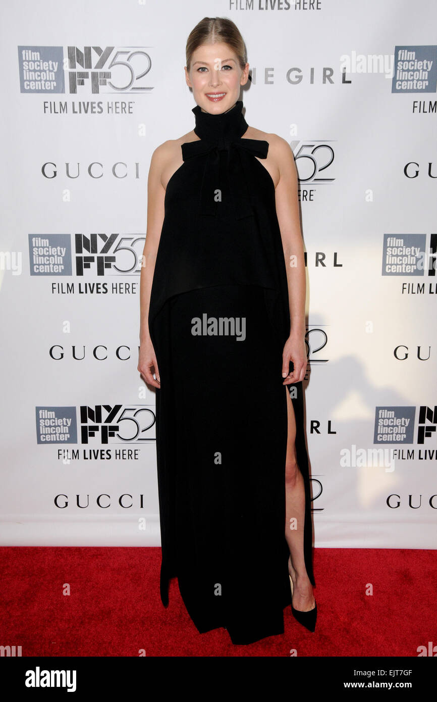 52nd New York Film Festival - 'Gone Girl' - World premiere Featuring: Rosamund Pike Where: New York City, - Stock Image