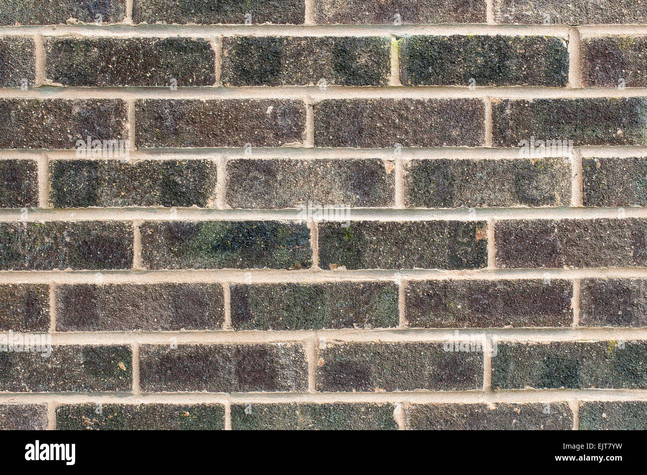 A dark coloured brick wall background Stock Photo