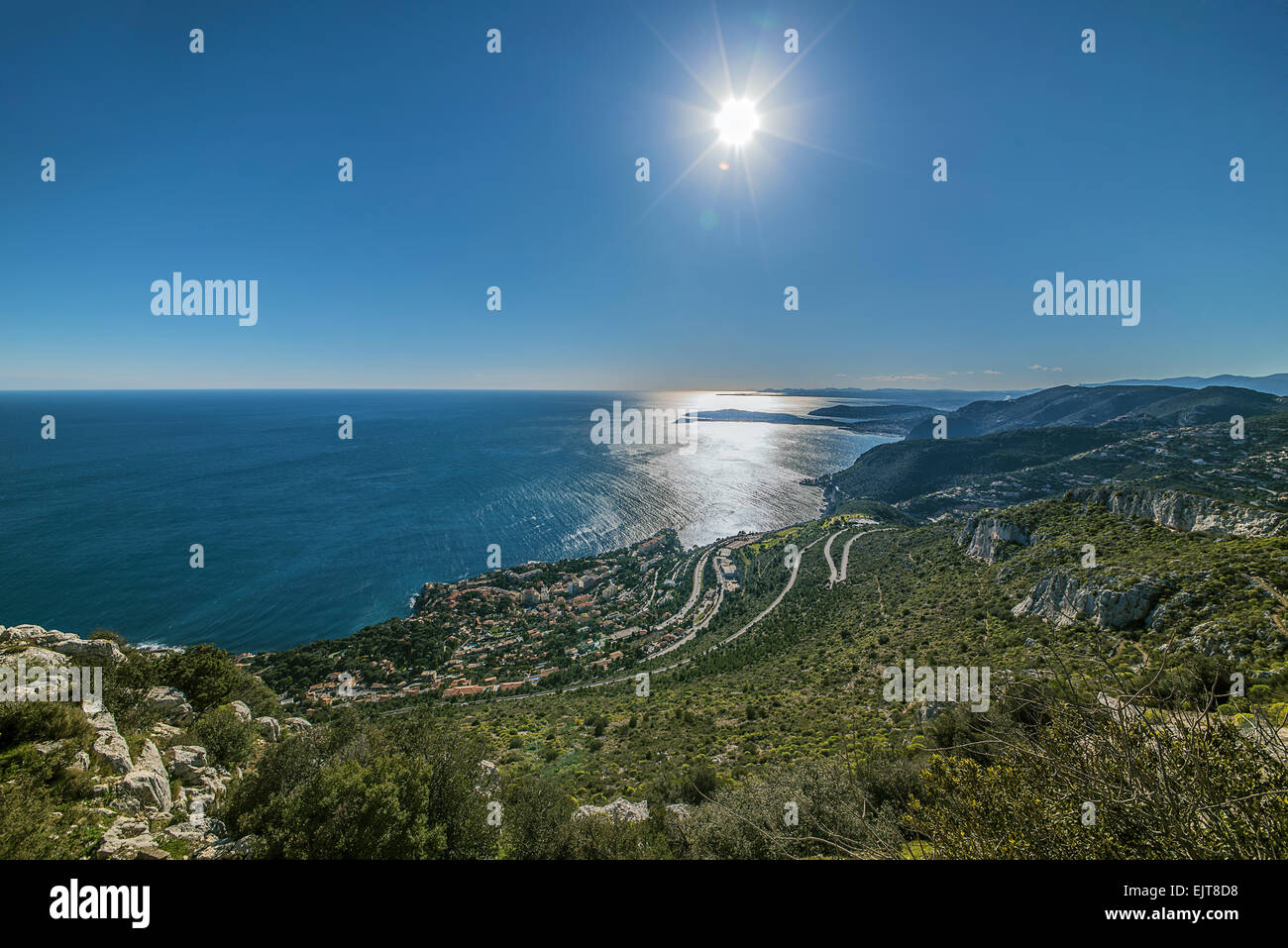 French Riviera coastline - Stock Image