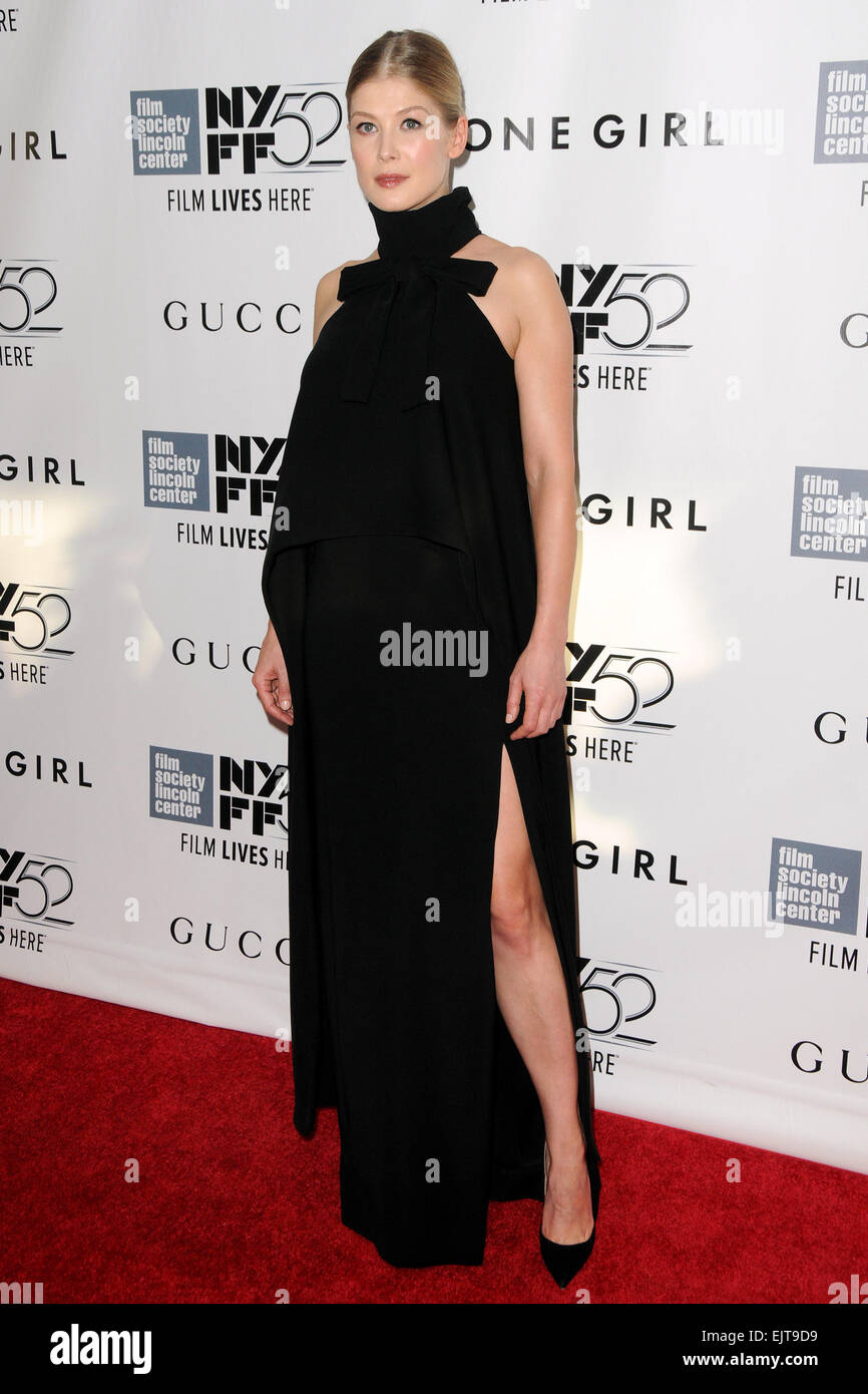 52nd New York Film Festival - 'Gone Girl' - World premiere Featuring: Rosamund Pike Where: Manhattan, New - Stock Image