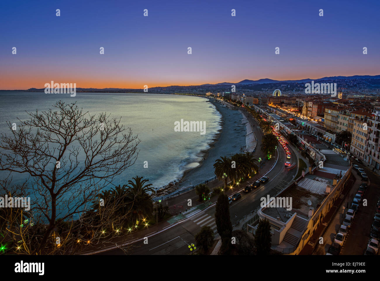 Sunset in Nice - Stock Image