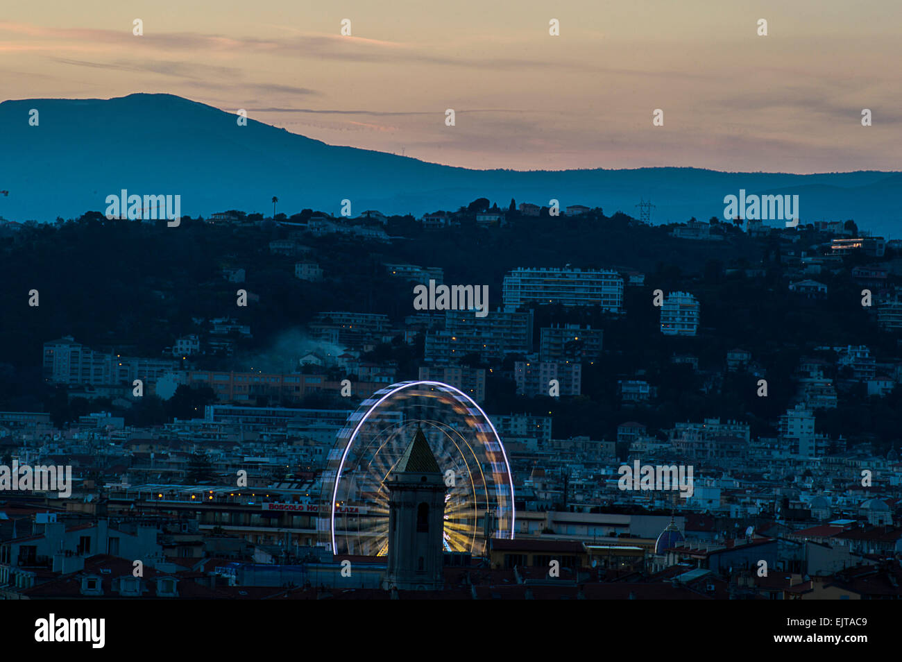 ferris wheel in Nice Stock Photo