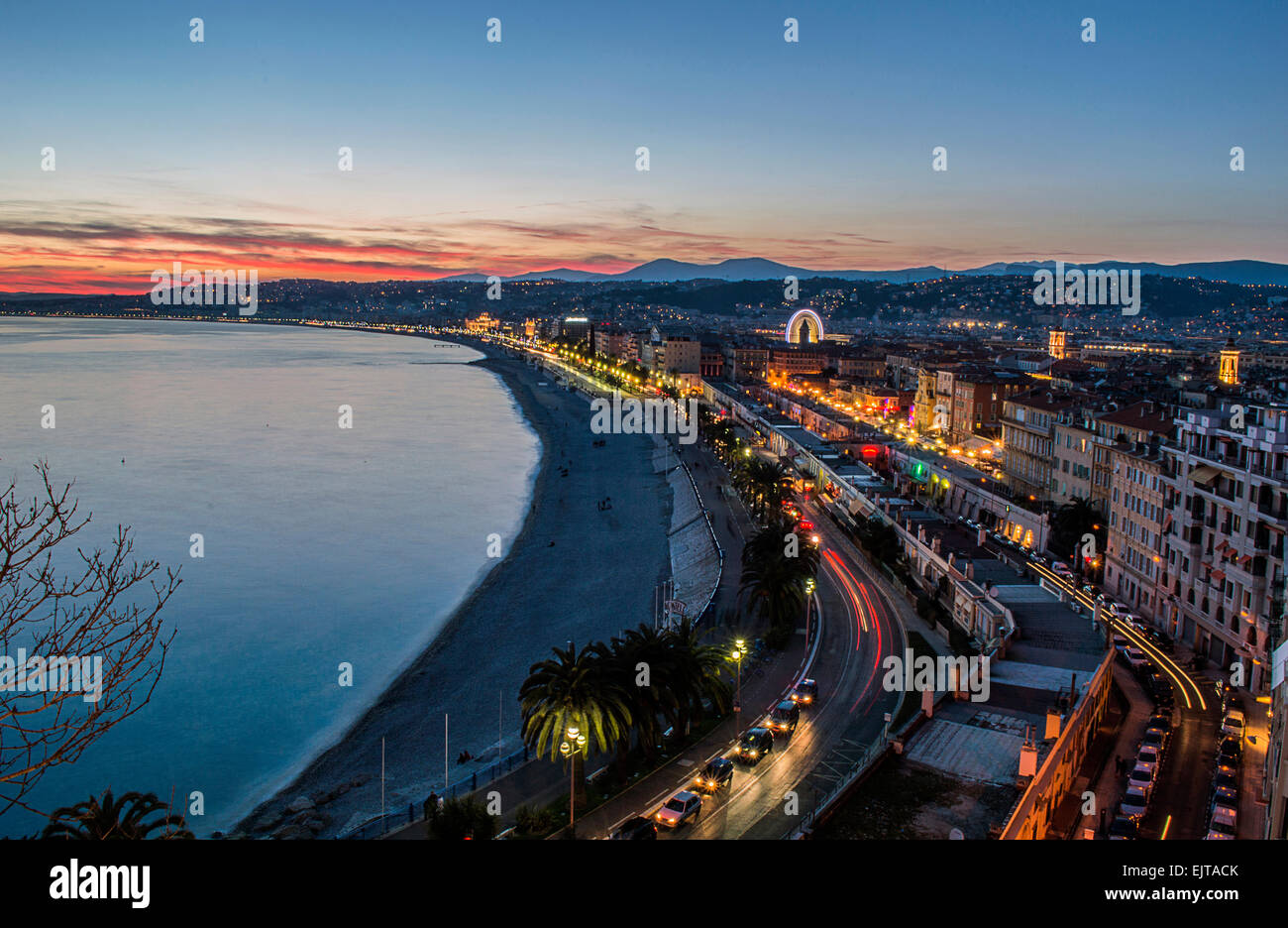 Sunset on Nice - Stock Image