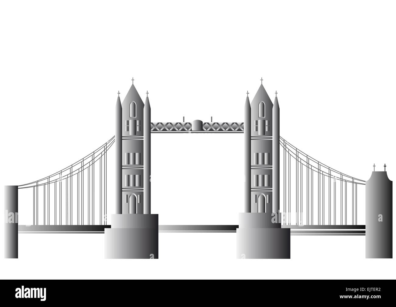 Vector Tower Bridge - Stock Vector