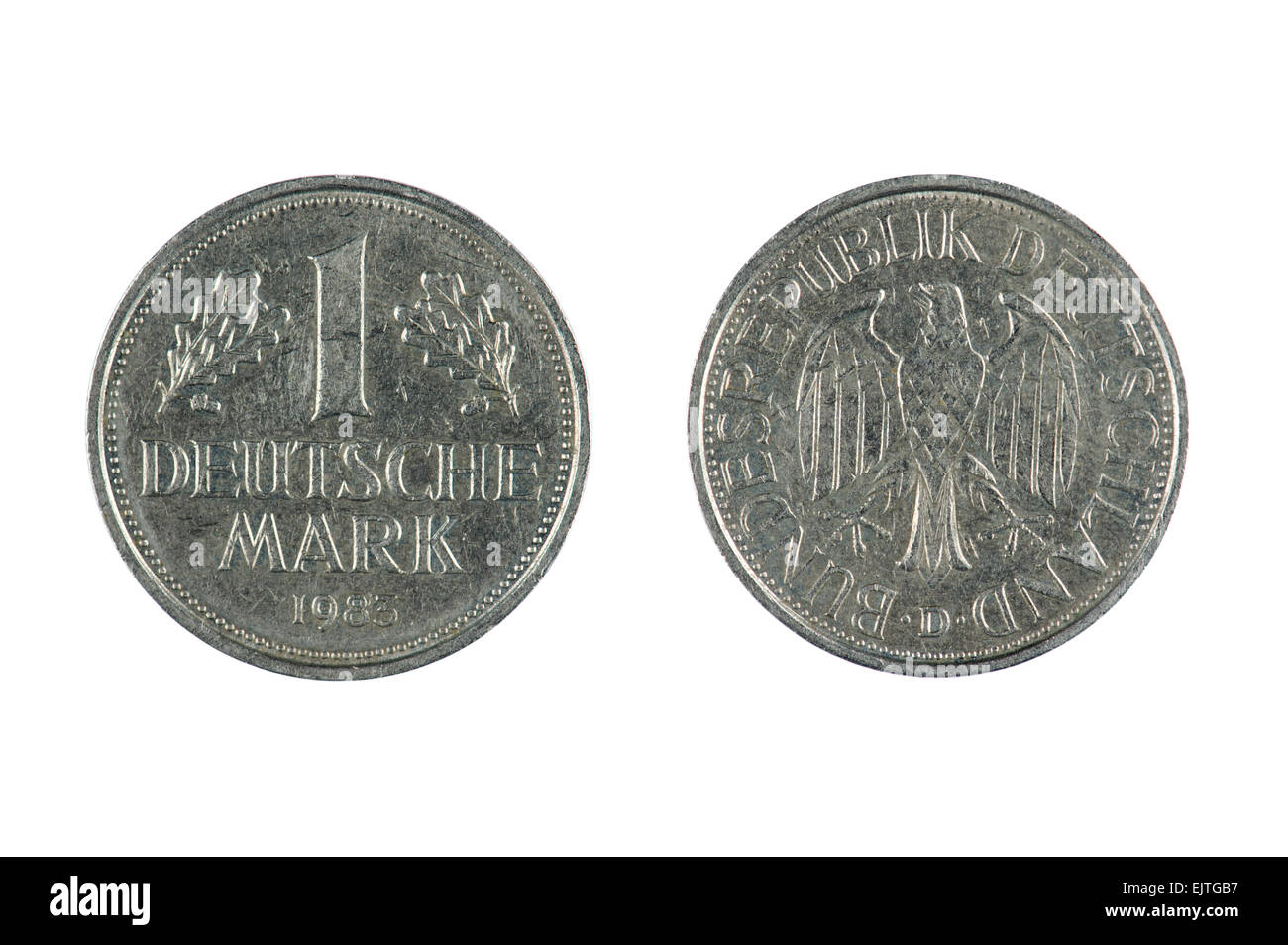 isolated object on white -   coin Deutschland - Stock Image