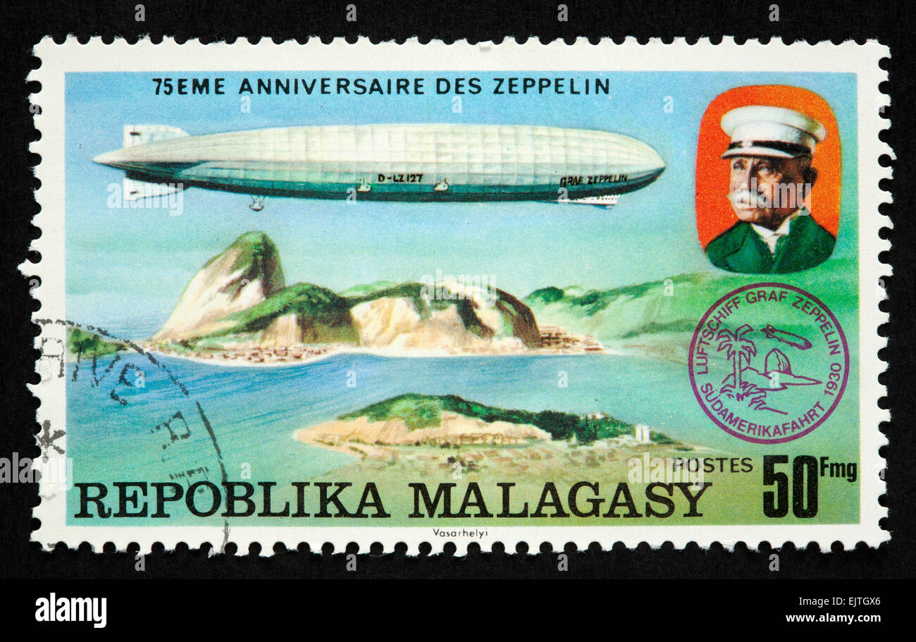 Malagasy postage stamp - Stock Image