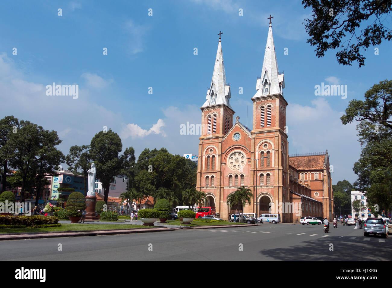 Notre Dame Church, Ho Chi Minh City, Vietnam - Stock Image