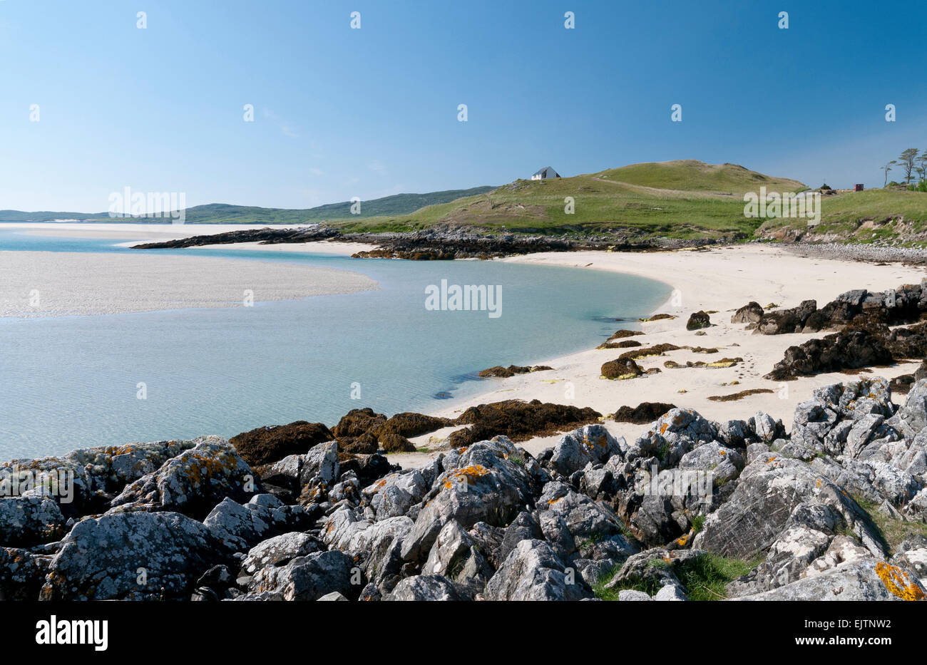 shore at luskentyre harris - Stock Image