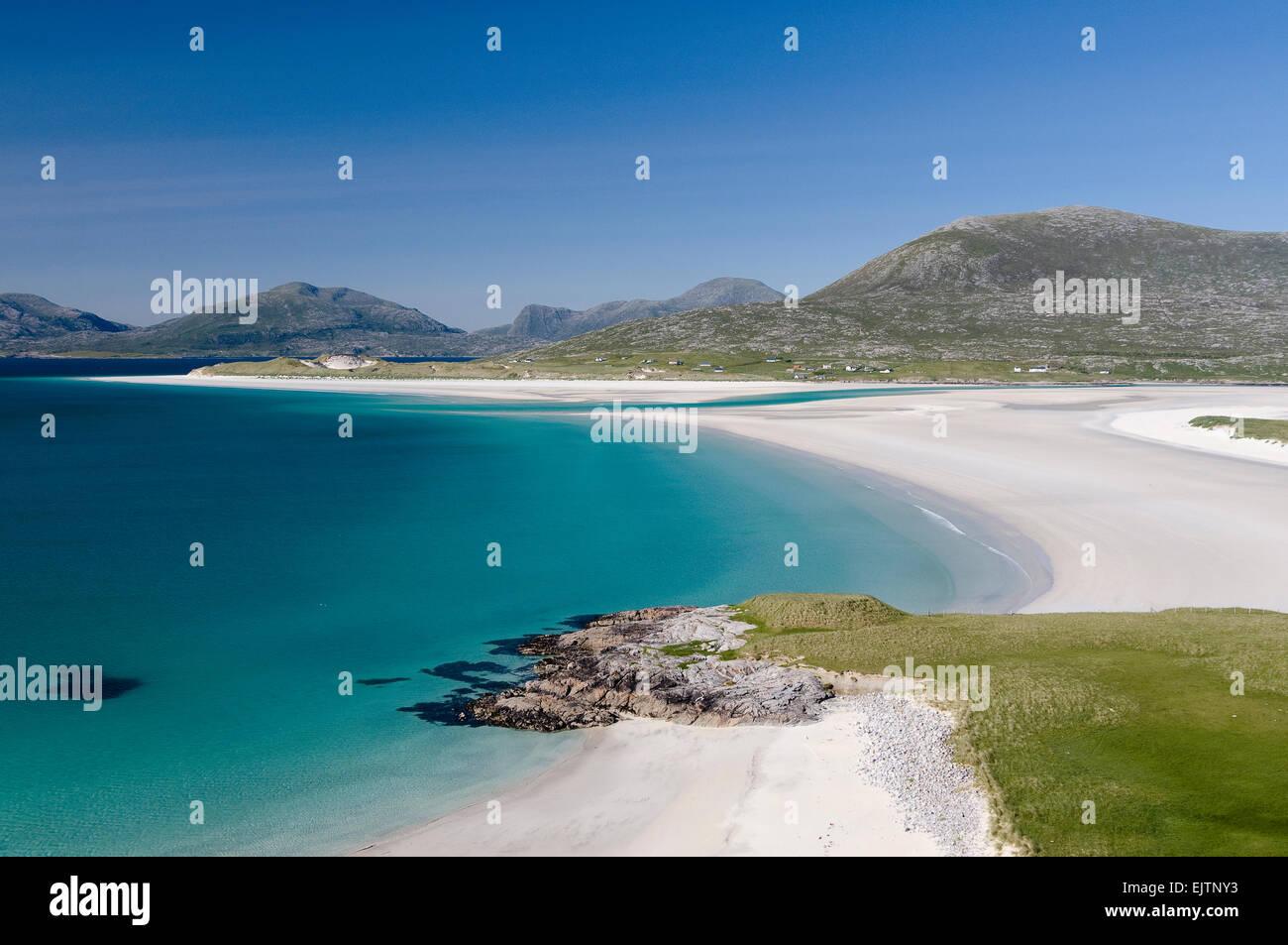 shore at luskentyre harris - Stock Image