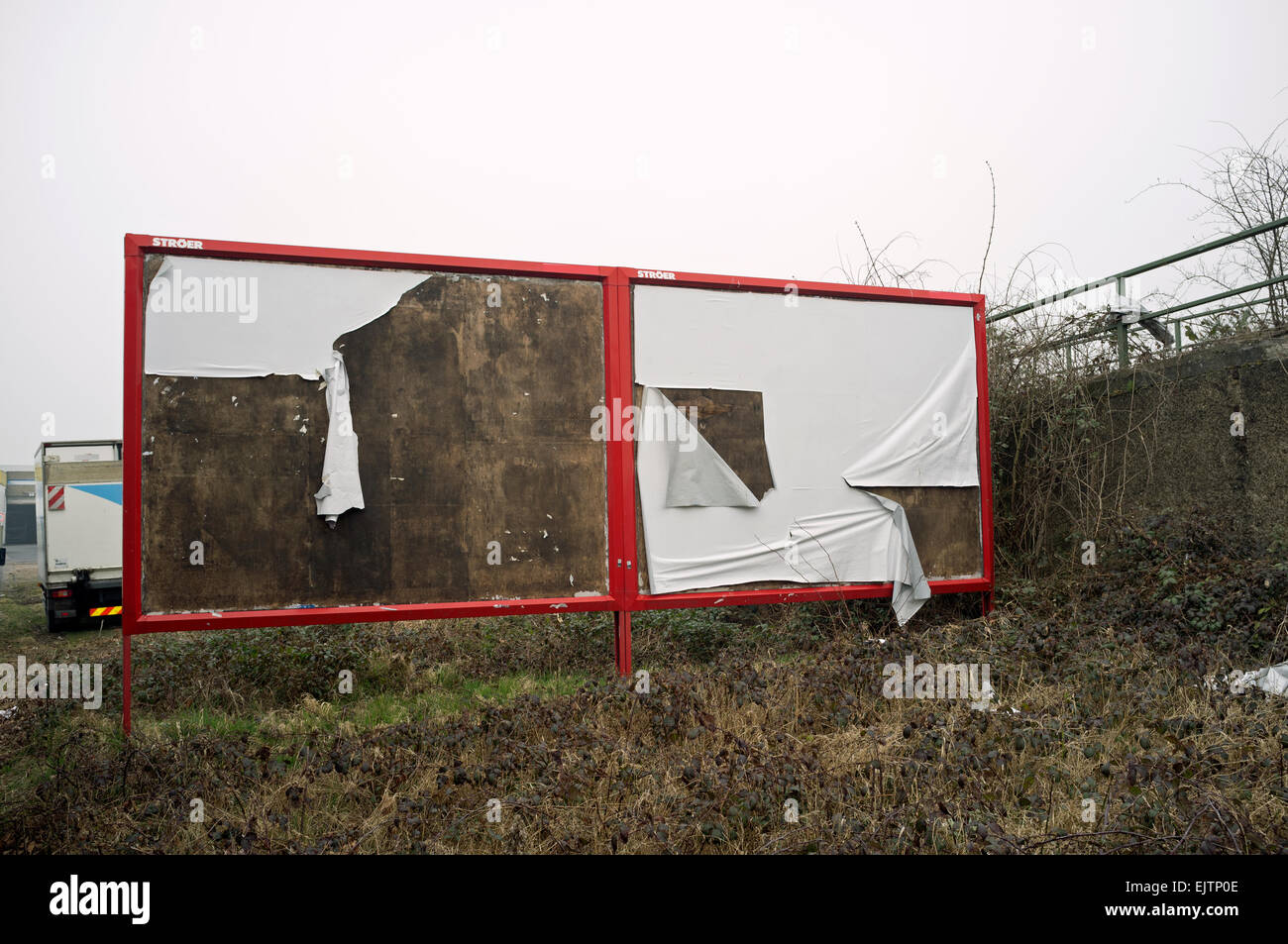 Empty Stroer billboards - Stock Image