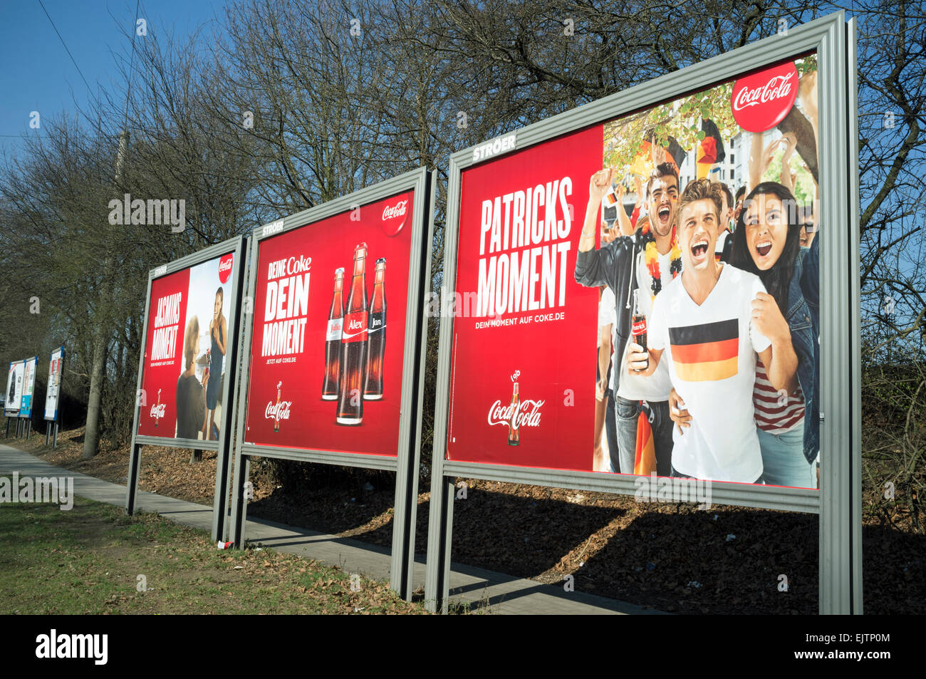Coca Cola billboard adverts Germany - Stock Image