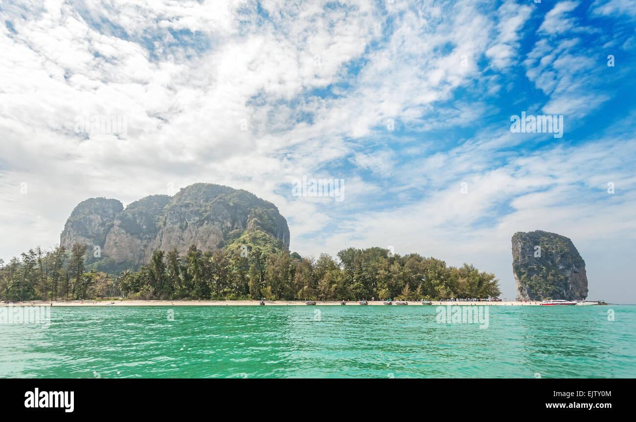 Beautiful island located in Krabi province, Thailand. - Stock Image