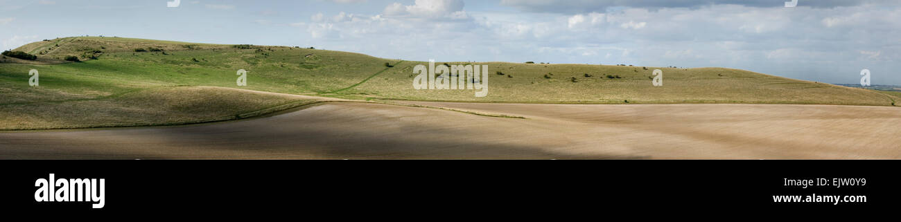 Panorama of Ivinghoe Beacon - Stock Image
