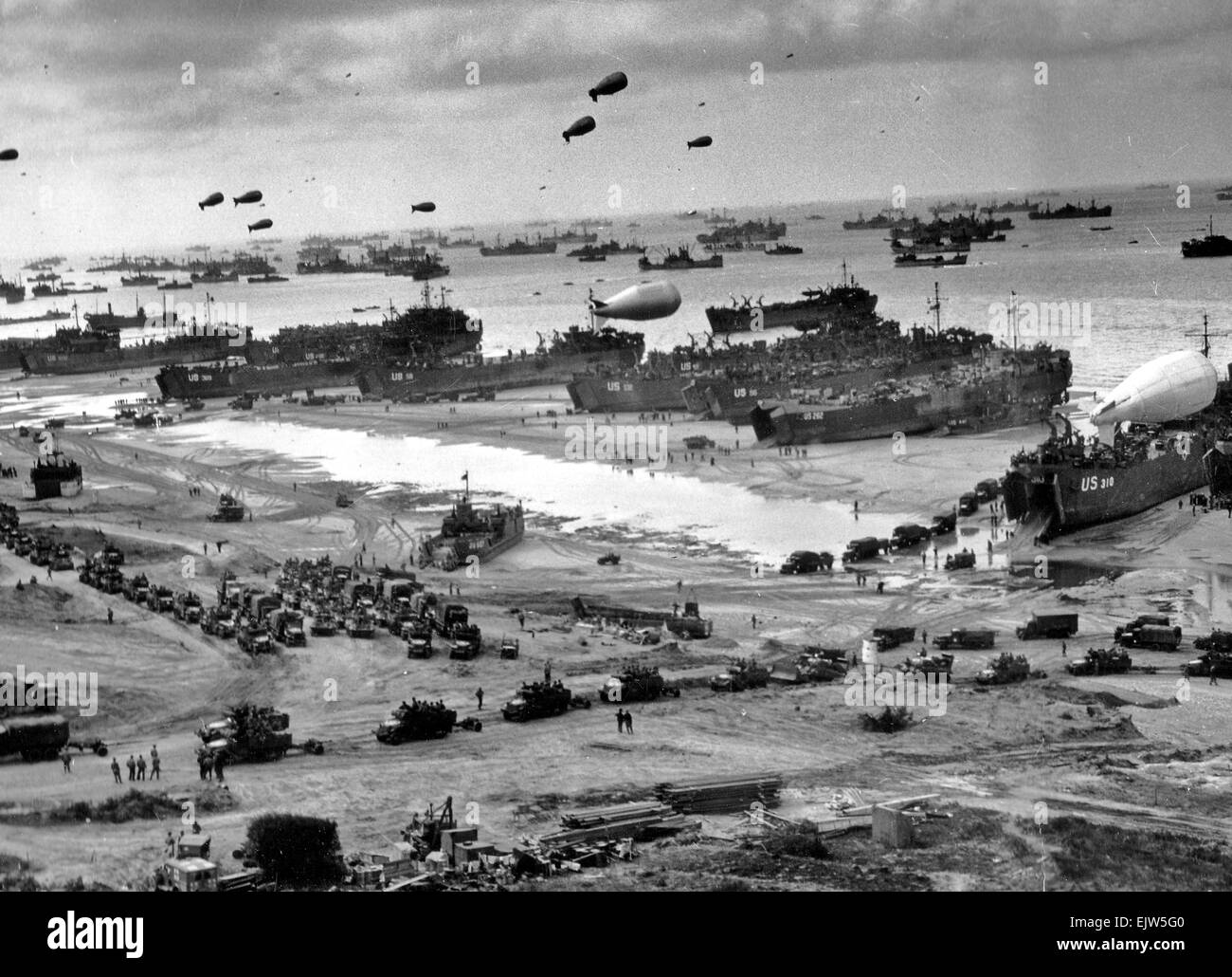 June 1944, the D-Day Invasion of Normandy. - Stock Image