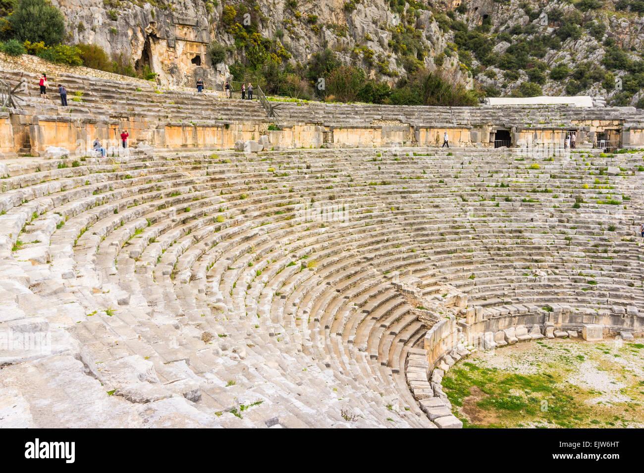 Theatre at Myra, Antalya Province, Aegean Region, Turkey - Stock Image