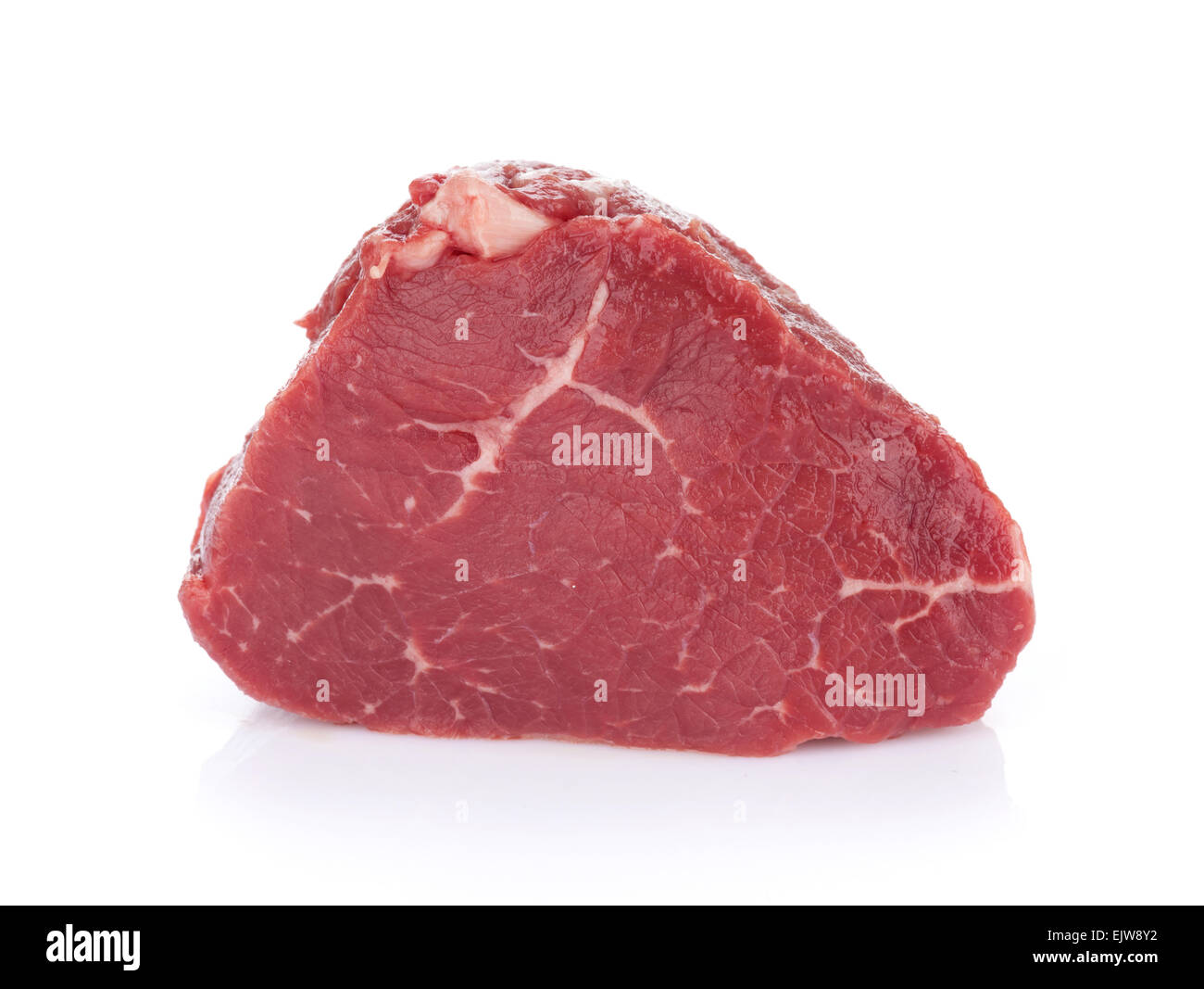 Fillet steak beef meat. Isolated on white background - Stock Image