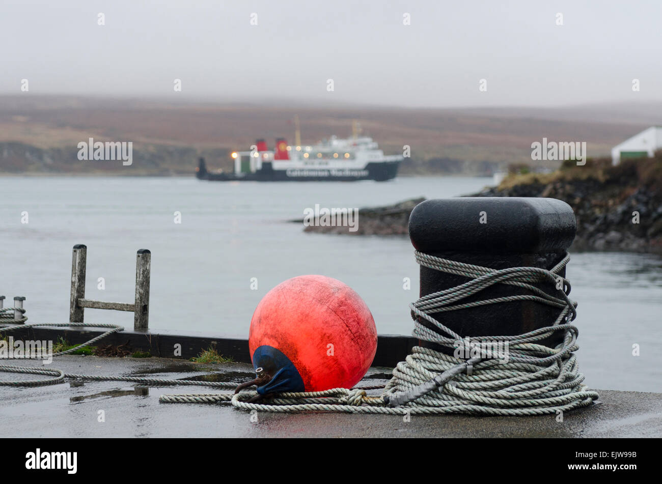 bunnahabhain distillery warehouse mooring - Stock Image