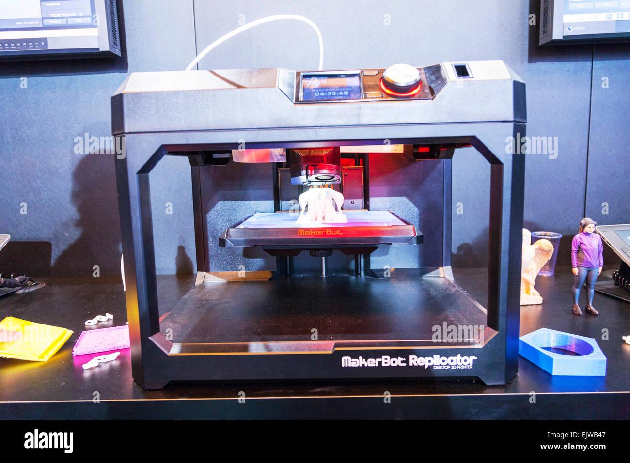 3d printer making plastic model printing machine working three dimensional item for medical use usage uses future - Stock Image