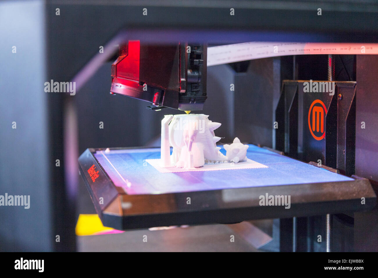 3d printer making plastic model printing machine working three dimensional item for medical use usage uses future - Stock Image