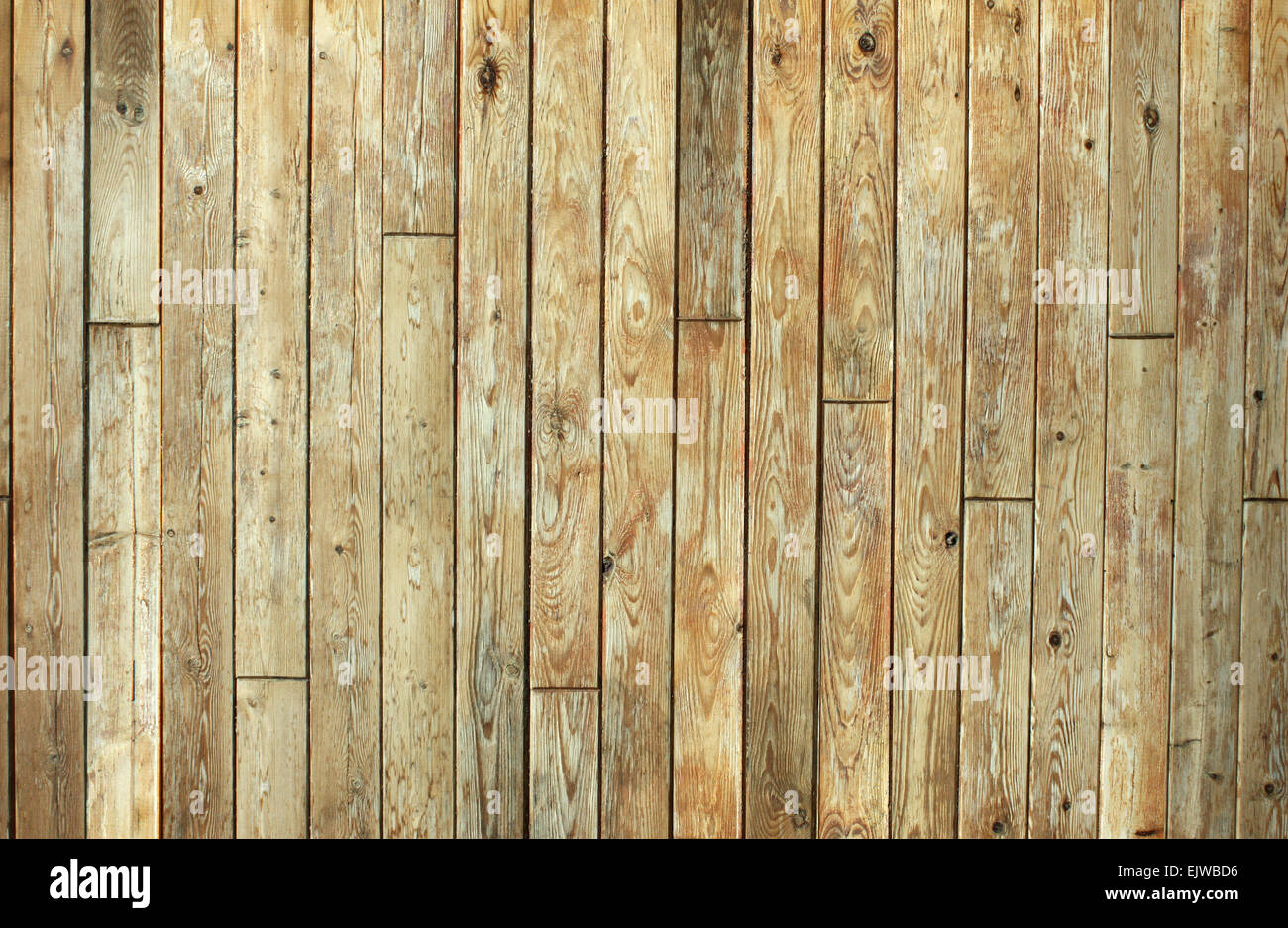 Dirty old planks of wood with knots. Great for texture background and design with wood. - Stock Image