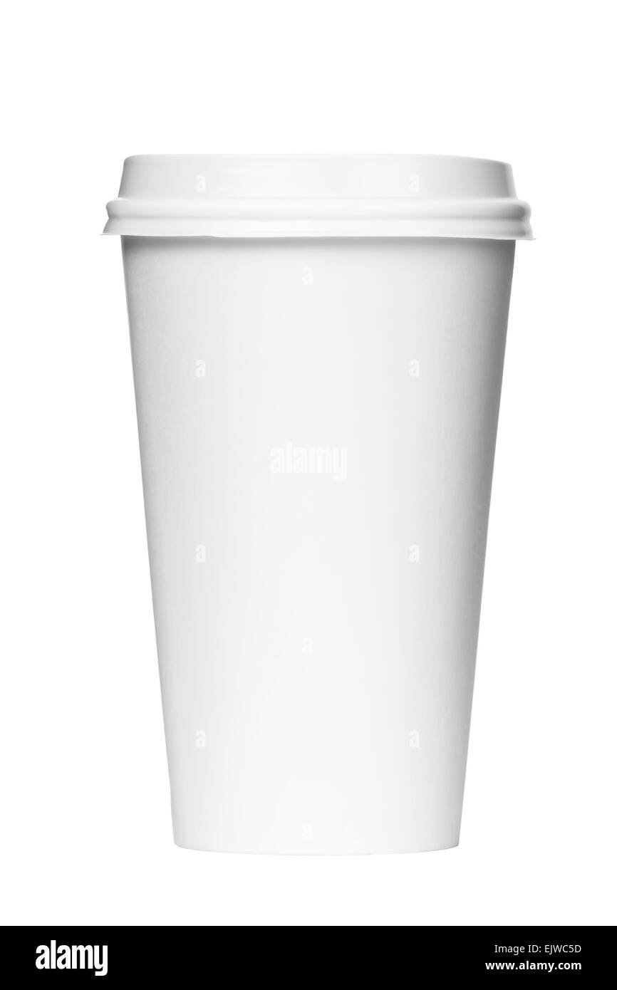 Blank coffee cup - Stock Image