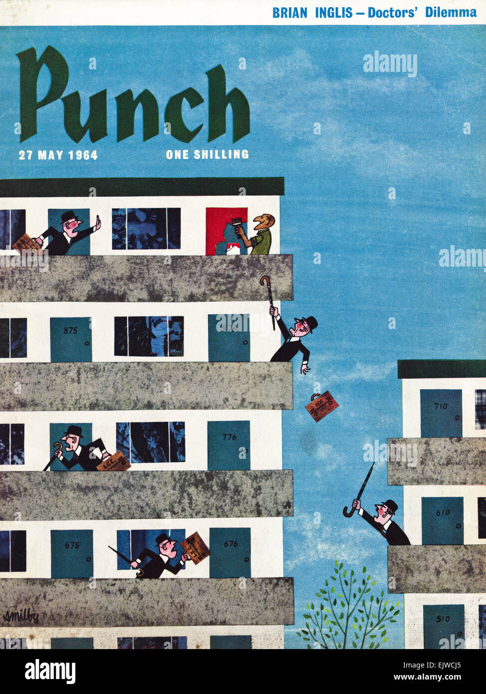 Cover of PUNCH magazine dated 27th May 1964 illustration by Smilby aka Francis Wilford-Smith - Stock Image
